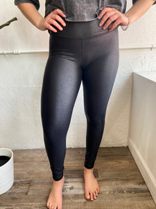 royal foil scale leggings
