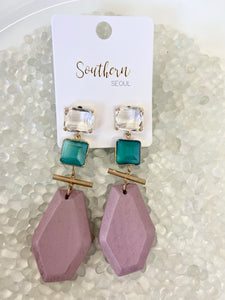 mika earrings -lavender