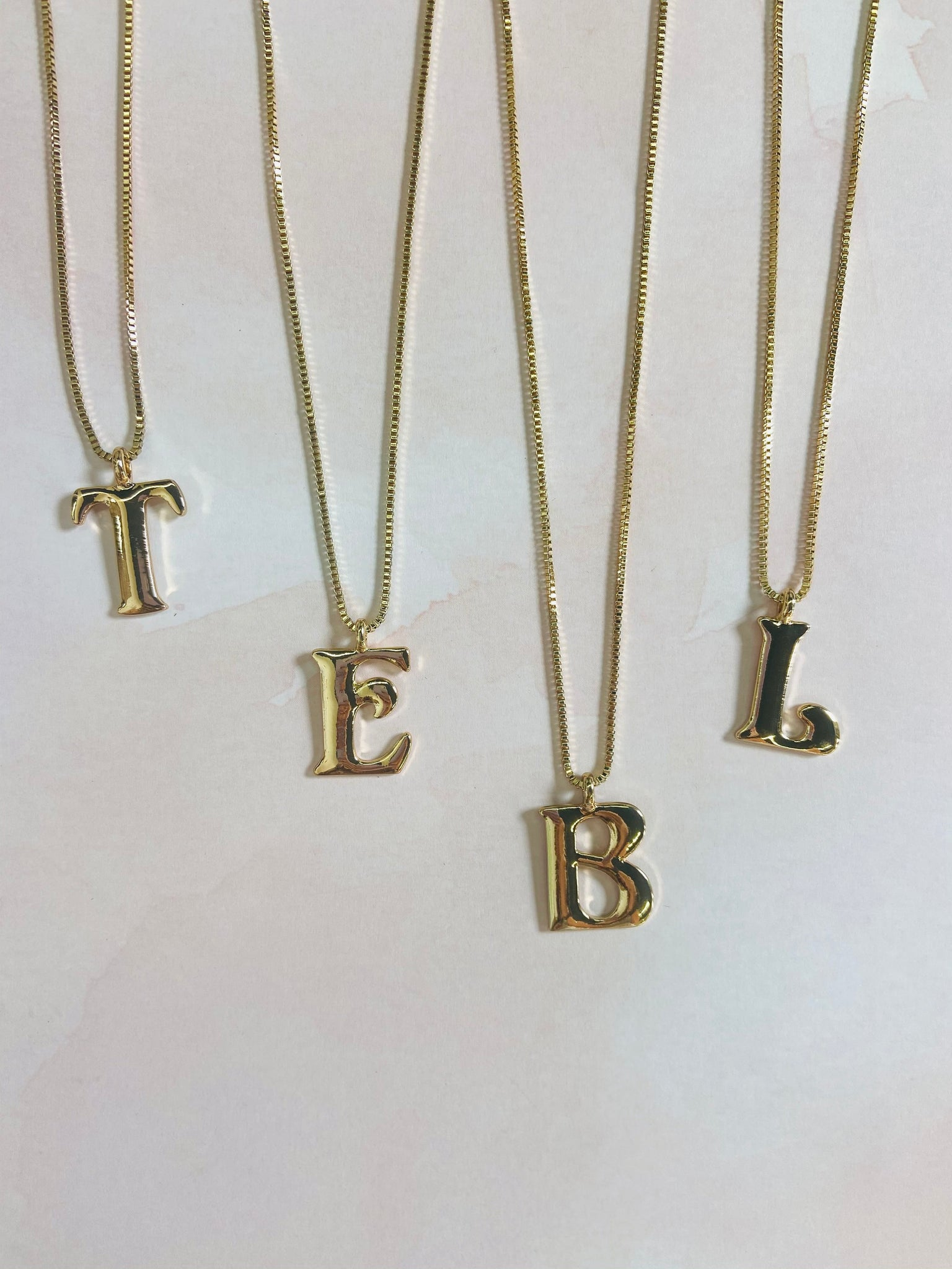 poppy initial necklace