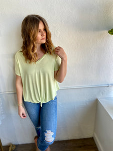around town tee - lime