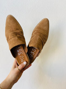 musse & cloud : achily mule - tan suede