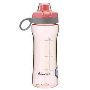 BONISON 14 OZ Kids Water Bottle With Flip Top Lid Leak Proof Bpa Free Drinking Water Bottle For School Running Outdoor Cycling And Camping Perfect Size For Kids - Pink