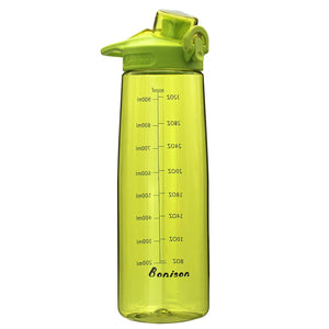 Bonison 36 OZ Sports Bottle Water With Flip Top Lid Leak Proof Bpa Free Drinking Water Bottle, for Travel Yoga Running Outdoor Cycling and Camping - Green