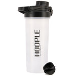 Hoople 24 OZ Shaker Bottle Protein Powder Shake Blender Gym Smoothie Cup, BPA Free, Auto-Flip Leak-Proof Lid, Handle with Ball Included - Black