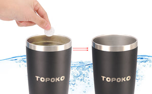 TOPOKO Bottle Cleaning Tablets (24 TABS) for Stainless Steel & Plastic Bottles and Containers, Chlorine Free, All Natural Ingredients, Safe & Chemical Free