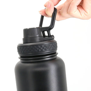 Twisted Top Lid For Hydro Flask Wide Mouth Water Bottle, Compatible with Hydro Flask Wide Mouth Bottles & All Other Stainless Steel Wide Mouth Bottles