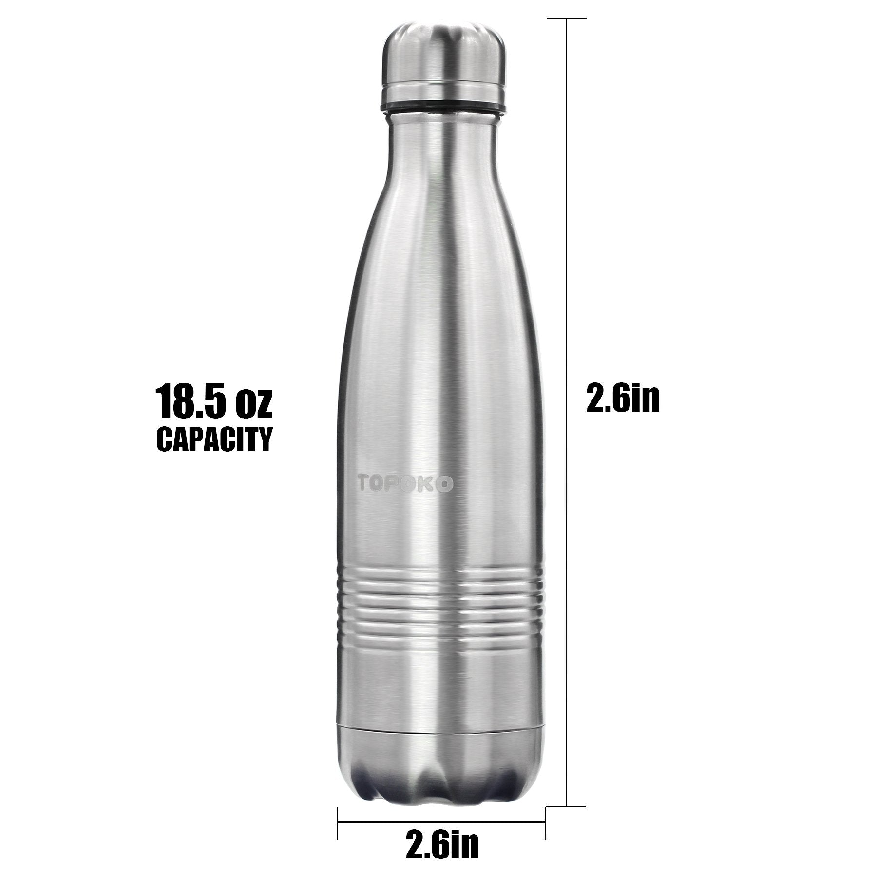 Classic Shape Double Wall Insulated Stainless Steel Vacuum Bottle