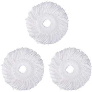 3PC Replacement Microfiber Mop Head Refill For Spin Mop 360° Easy Cleaning USA-White