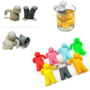 Mr. Tea Silicone Tea Infuser for Tea Cup, Mug, Tumbler, Bottle. (Random Color)