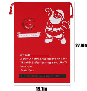 "Christmas Bag Santa Sack Canvas Bag For Gifts Santa Sack Special Delivery Extra Large Size 27.5""x19.5"" (6 Random)"