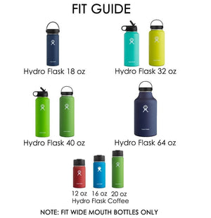 "Auto Flip Lid for Hydro Flask Wide Mouth Water Bottle. One Button Push Open Flip Lid for 2.2"" Mouth Insulated Bottle, Turn Bottle into Tumbler, BPA-Free Leak Proof."