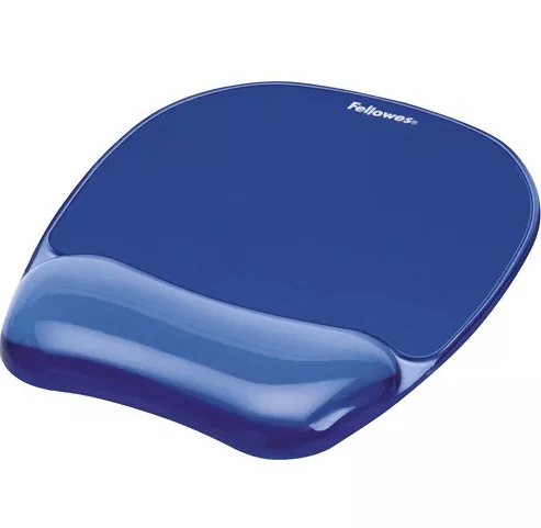 Kit Mouse Pad y Descansa Muñecas Gel Crystal™ - Azul Oficina Fellowes