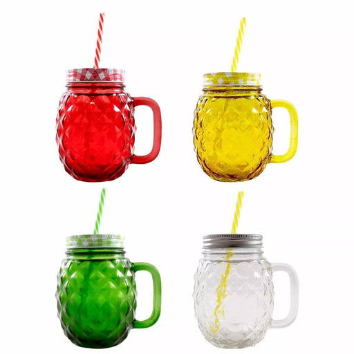 Frasco Ball Mason Jar Piña 16oz Tapa Colores Amarillo Mason Jars Ball Ball