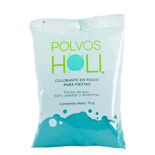 Polvos Holi Original Turquesa Bolsa 75gr Party Time holi