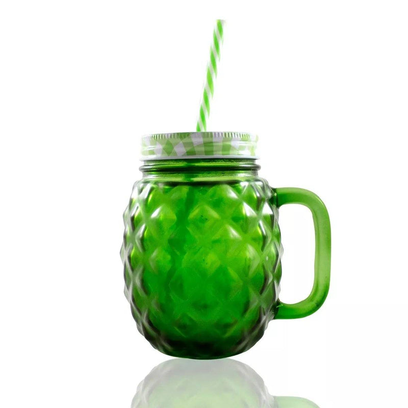 Frasco Ball Mason Jar Piña 16oz Tapa Colores  Verde - MarchanteMX