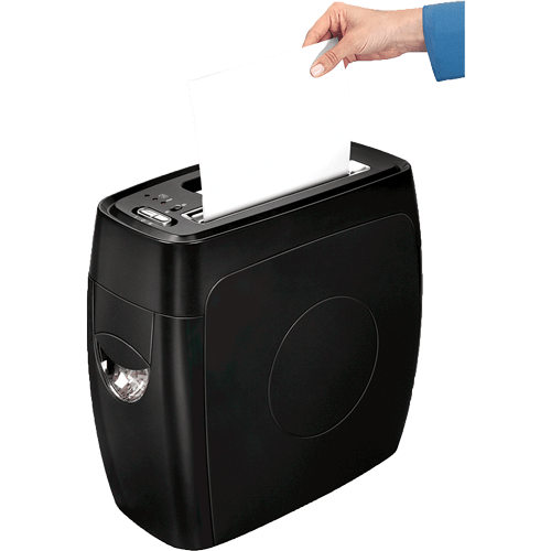Trituradora Powershred® PS-12Cs de Corte Cruzado Fellowes Negro Oficina Grupo Leomond-Fellowes