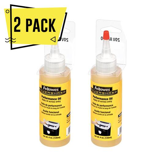 2 Pack Aceite para cuchillas para destructoras Fellowes 120ml - MarchanteMX