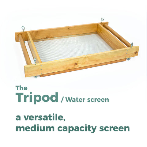 Tripod - archaeology sifting screen, forensic sifting screen