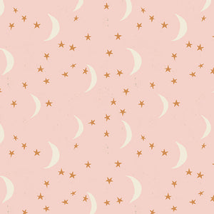 Organic Cotton Jersey Scrunchies - Pink Moon