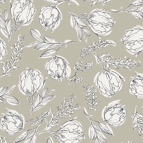 Organic Cotton Jersey Scrunchie - Botanical Illustration