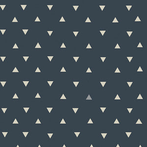 Organic Cotton Jersey Headband - Navy Confetti Triangle