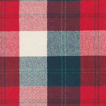 Plaid Flannel Infinity Scarf - Red, Black & Cream