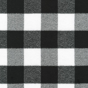 Plaid Flannel Infinity Scarf - Black and White Large Buffalo Check