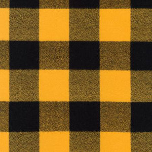 Plaid Flannel Infinity Scarf - Gold & Black