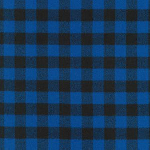 Plaid Flannel Infinity Scarf - Small Buffalo Check in Black and Blue