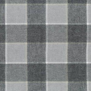 Plaid Flannel Infinity Scarf - Shades of Grey