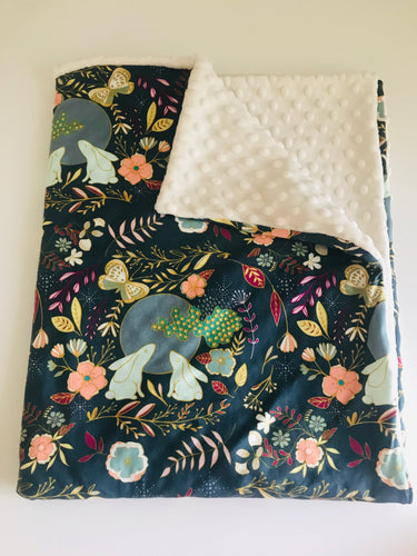 Organic Cotton Baby Blanket - Bunny Day Dream