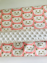 Organic Cotton & Minky Baby Blanket Cats