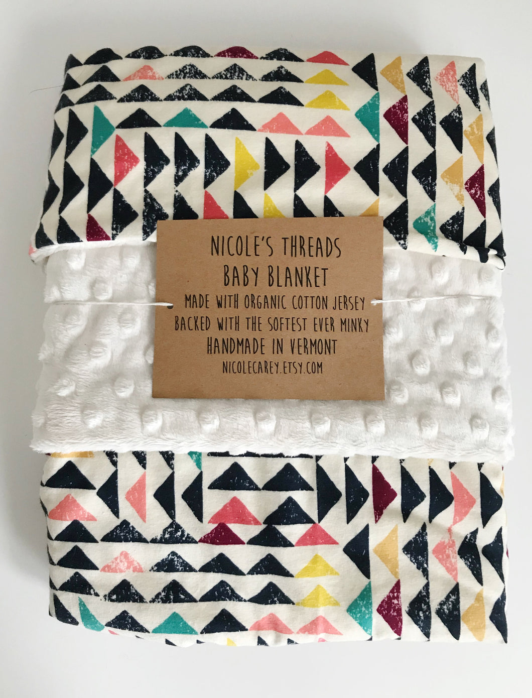 Colorful Geometric Baby Blanket