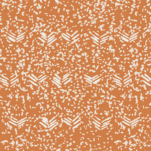 Organic Cotton Jersey Scarf - Orange + White