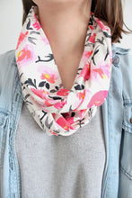 Organic Cotton Jersey Scarf - Roses & Vines