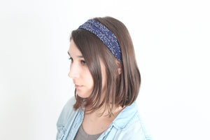 Organic Cotton Jersey Headband - Hawk in Forest