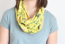 Organic Cotton Jersey Scarf - Chatreuse Garden