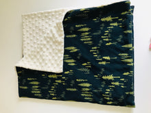Organic Cotton Jersey & Minky Baby Blanket - Pine Forest