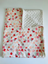 Organic Cotton Jersey & Minky Baby Blanket - Sherbert Shapes