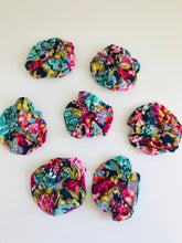 Organic Cotton Jersey Scrunchie - Vibrant Navy Floral