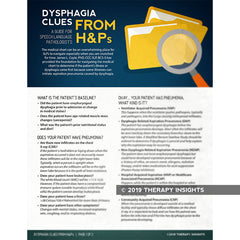 Dysphagia Clues from H&Ps: A Guide for Speech-Language Pathologists