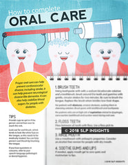How to compelte oral care