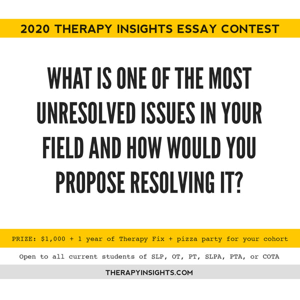 2020 Therapy Insights Essay Contest