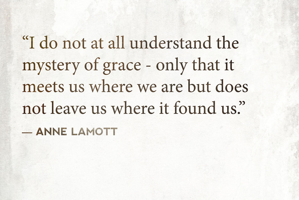 I do not at all understand the mystery of grace - only that it meets us where we are but does not leave us where it found us. - Anne Lamott