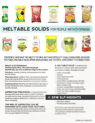 Meltable solids for people with dysphagia