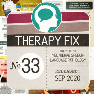 Med/Rehab Speech-Language Pathology Therapy Fix No. 33 (Released September 2020)
