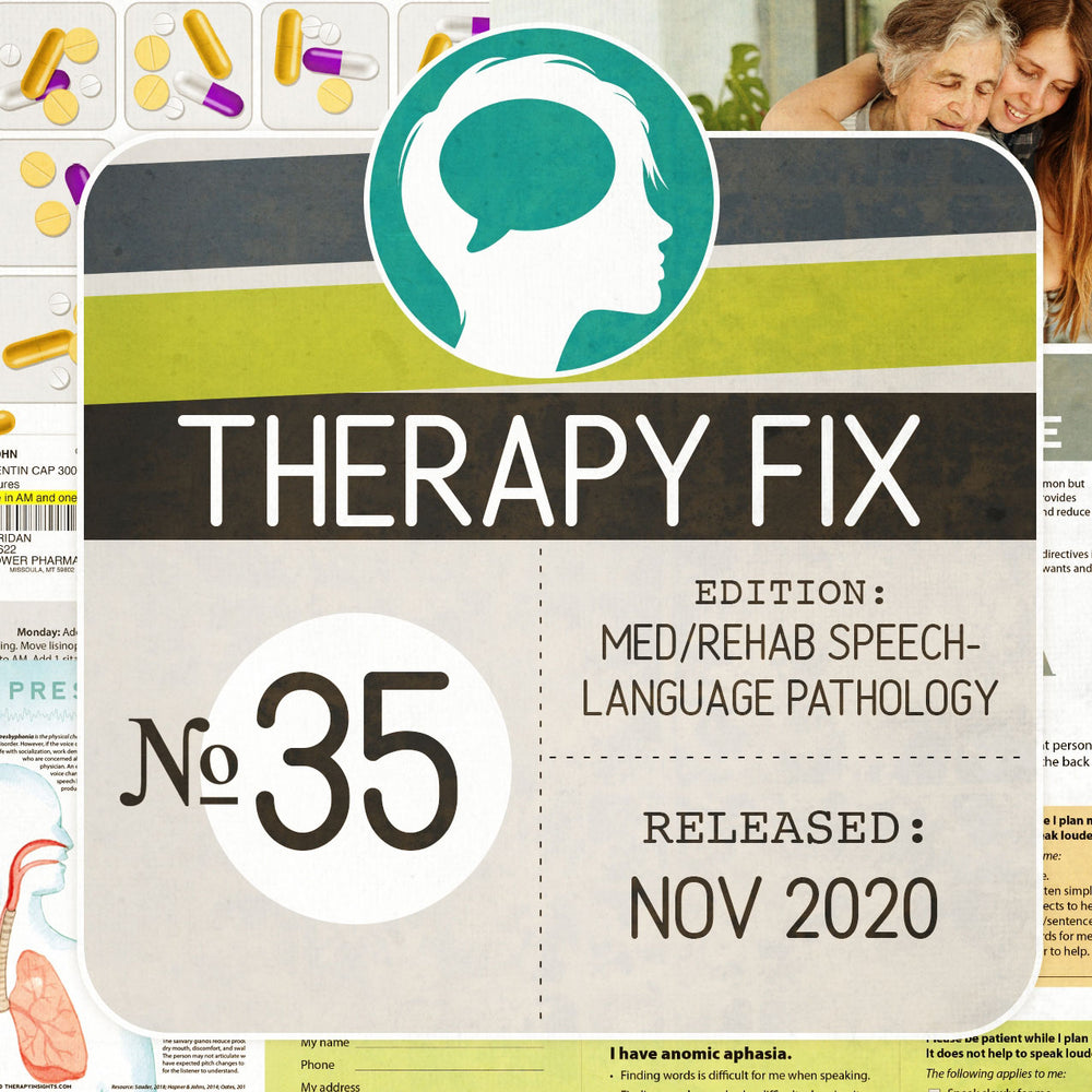 Load image into Gallery viewer, Med/Rehab Speech-Language Pathology Therapy Fix No. 35 (Released November 2020)