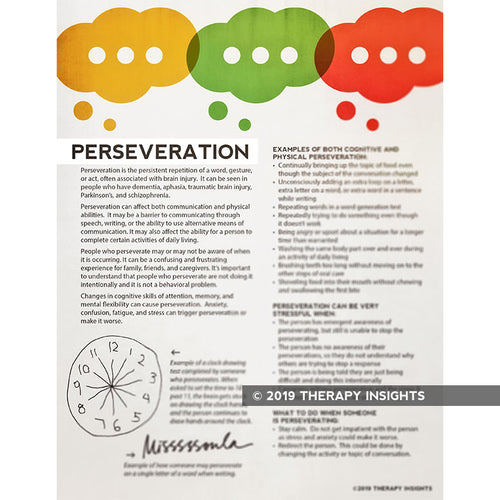 Perseveration - brain injury - speech therapy materials for adults - Therapy Insights - Therapy Fix