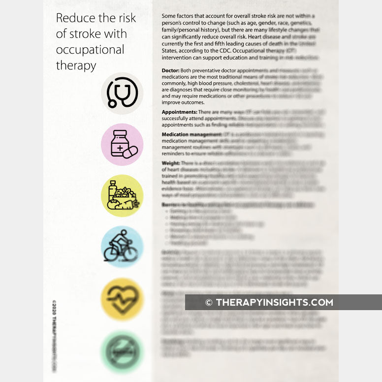 Reducing the Risk of Stroke and the Role of Occupational Therapy