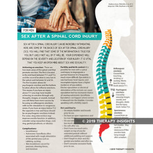 Sex after spinal cord injury for men - spinal cord injury rehabilitation - health literacy handouts for physical therapists - Therapy Insights - Therapy Fix